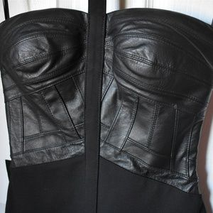 Bebe Limited Edition Genuine Leather Dress